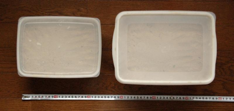 ぬか床容器、サイズ比較